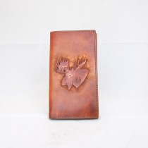 Hand Carved Long Wallet WL 036 Moose